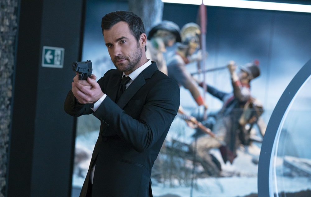 "Justin Theroux as ""Drew"" in THE SPY WHO DUMPED ME."