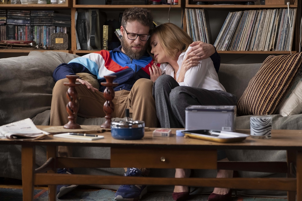 Fred Flarsky (Seth Rogen) and Charlotte (Charlize Theron) in LONG SHOT.